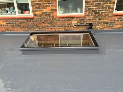 flat roof light well